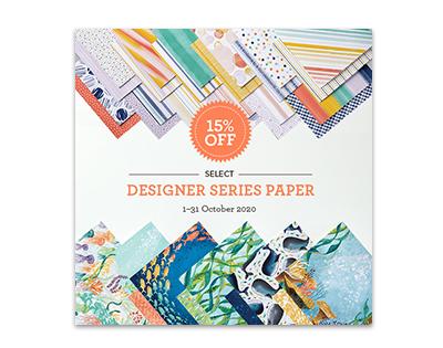 Ausgewählte Designerpapiere um 15% reduziert