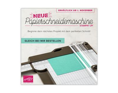 Neue Papierschneidemaschine