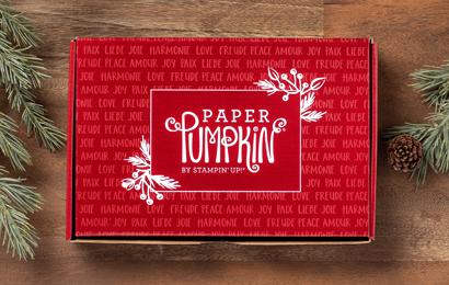 Joy to the World Paper Pumpkin Box