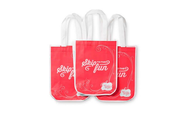 Paper Pumpkin Reusable Shopping Bags